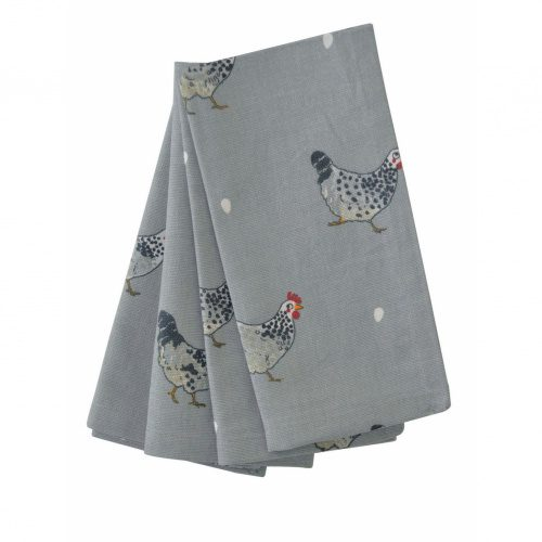 sophie-allport-chicken-100%-cotton-napkins-set-four