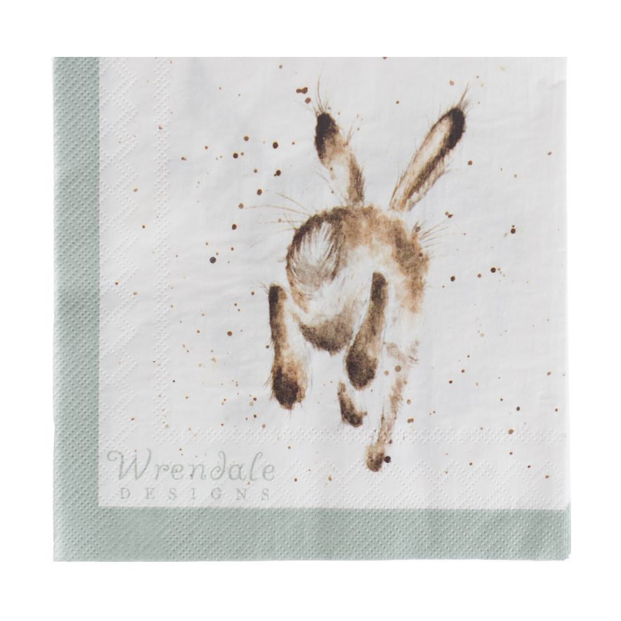 Wrendale Designs Hare Brained Hare Lunch Paper Napkins