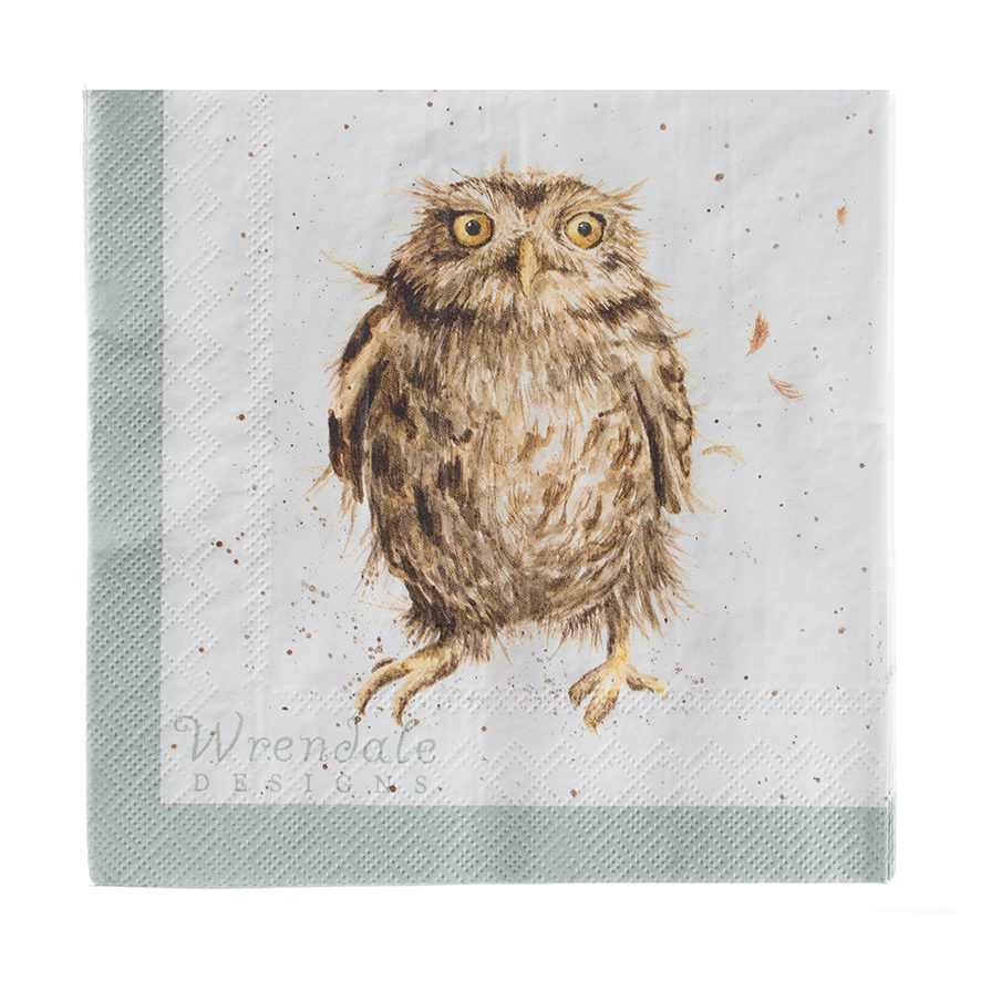 Wrendale Designs What A Hoot Owl Lunch Paper Napkins