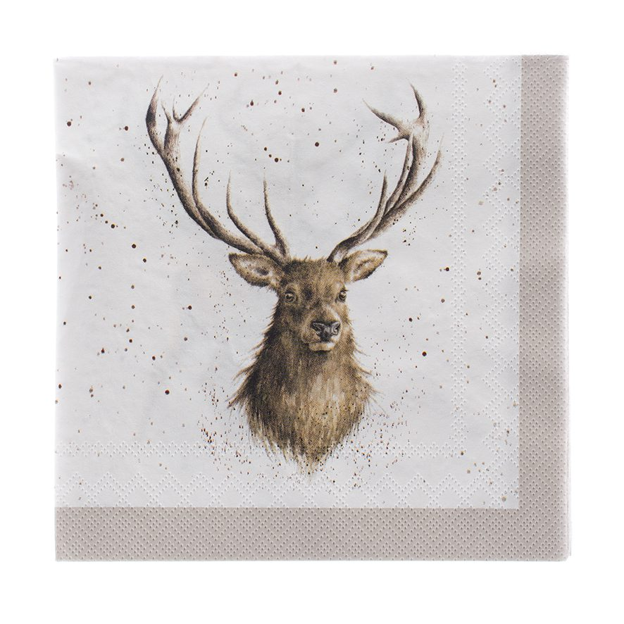 Wrendale Designs Wild At Heart Stag Paper Napkins