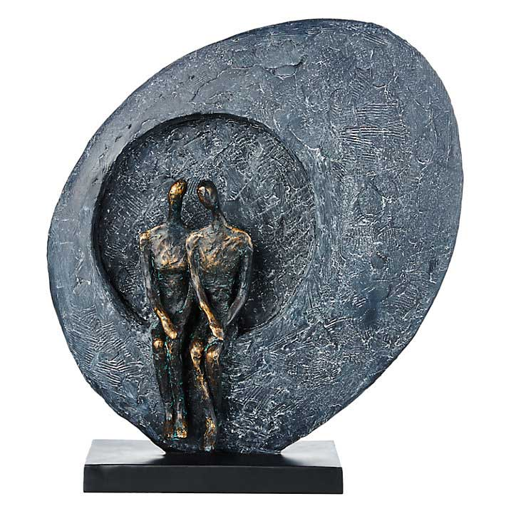MOONGAZING COUPLE ABSTRACT SCULPTURE BY LIBRA