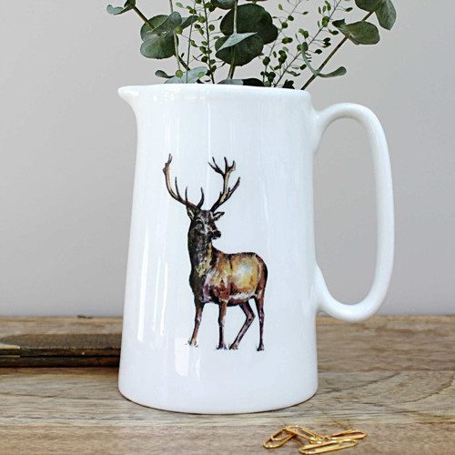 stag one pint fine bone china jug toasted crumpet