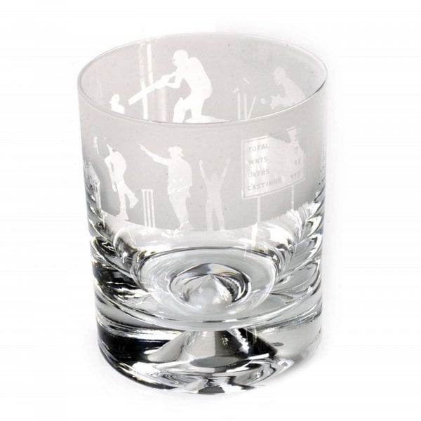 milford collection animo glass cricket scene whisky scene tumbler