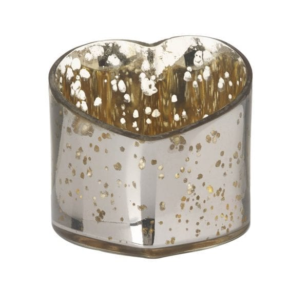 790278 gold cupid glass heart tea light holder by parlane