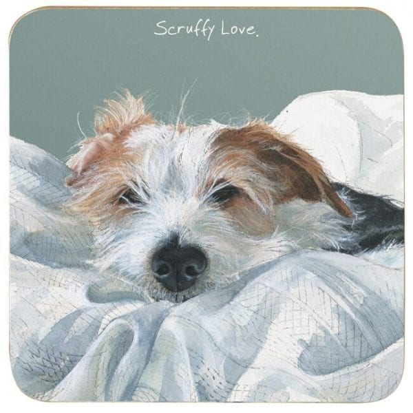 Little Dog Laughed CTR65 Scruffy Love Melamine Coaster