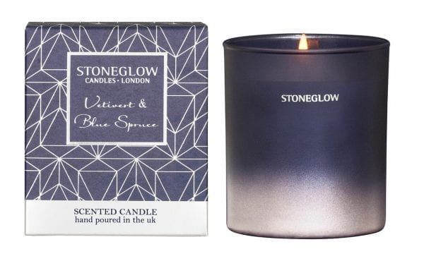 6915 Stoneglow Seasonal Collection Vetivert Blue Spruce Scented Candle Tumbler