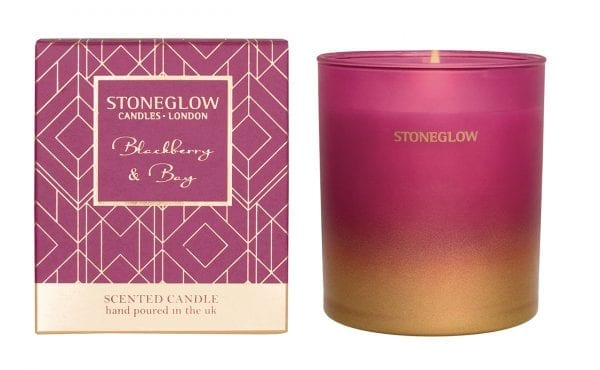 6917 Stoneglow Seasonal Collection Blackberry & Bay Scented Candle Tumbler