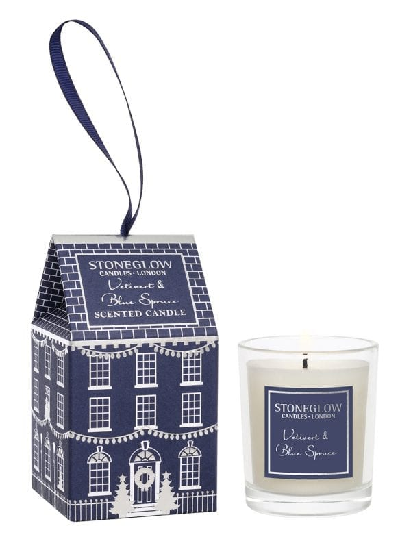 6932 Stoneglow Candles Vetivert Blue Spruce Christmas Scented Votive