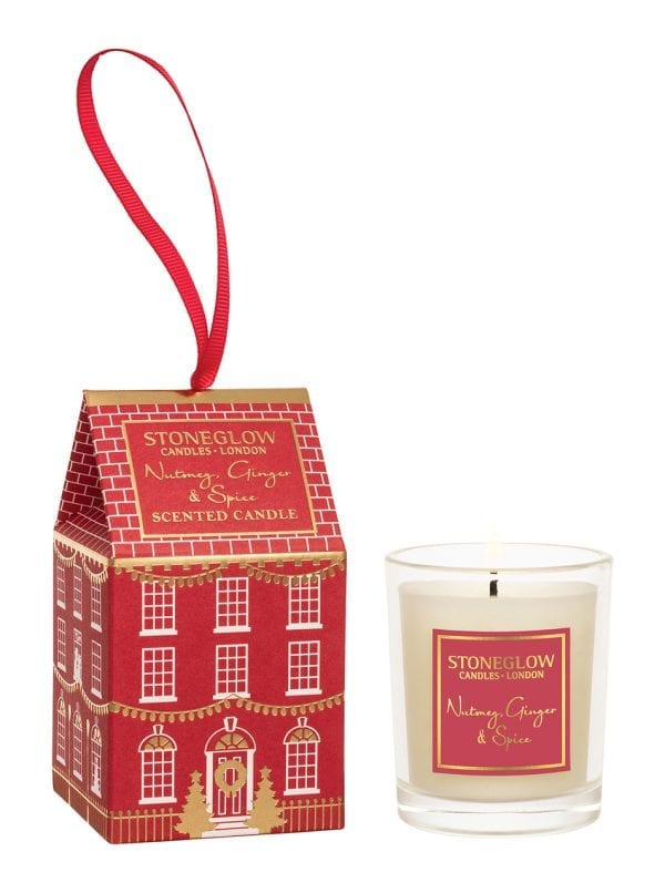 6940 Stoneglow Candles Nutmeg Ginger Spice Christmas Scented Votive