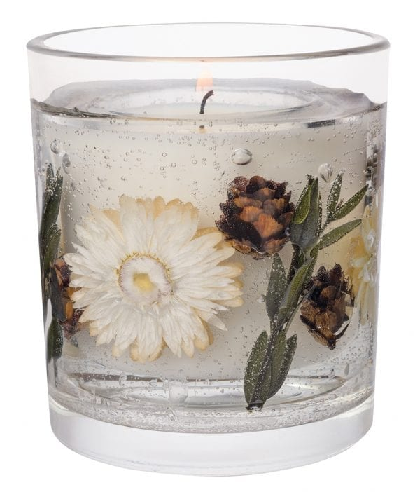 6947 Stoneglow Natures Gift Amber Woods Blossom Natural Wax Botanical Gel Candle