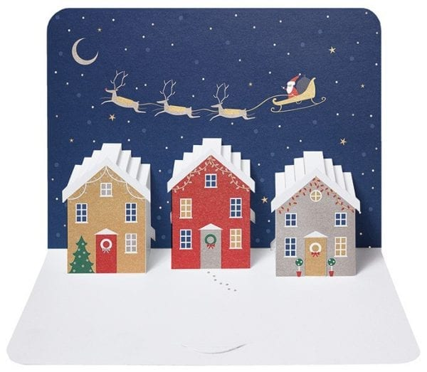 Boxed Christmas Cards.The Art File Xmas Houses Set Of 5 Form Luxurious Boxed Christmas Cards
