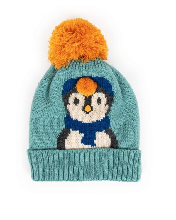 COS65 powder kids penguin hat ice blue