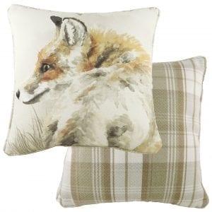 watercolour-fox-piped-cushion