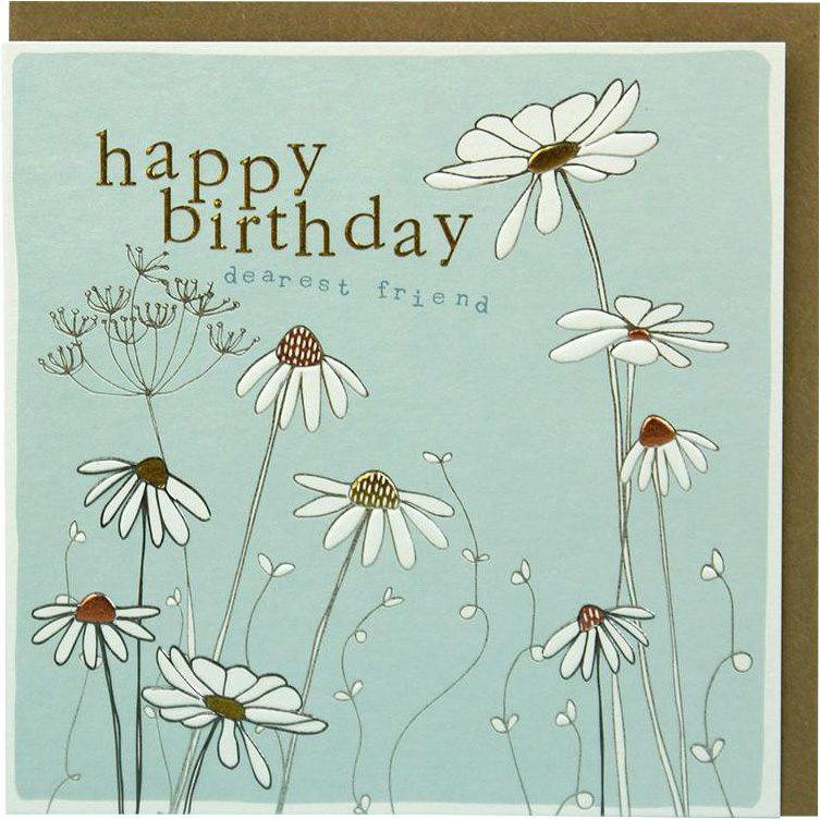 Happy Birthday Wonderful Friend Daisies Greeting Card By Molly Mae