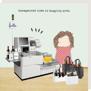 gf163-rosie-made-a-thing-bagging-area-greeting-card