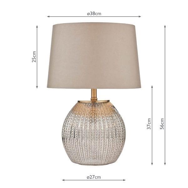 dimensions measurements sonia antique silver vintage base table lamp dar lighting