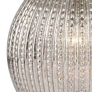 dar lighting sonia table lamp antinque silver round glass base close up