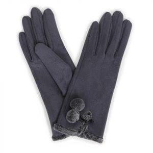 powder-design-amelia-faux-suede-gloves-charcoal