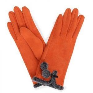 powder-design-amelia-faux-suede-gloves-tangerine