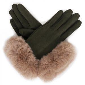 powder-design-bettina-faux-suede-gloves-sage-stone