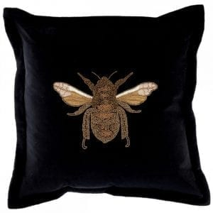 voyage-maison-layla-black-beaded-bee-velvet-cushion
