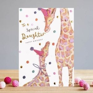 ts026-lousie-tiler-special-daughter-giraffes-birthday-greeting-card