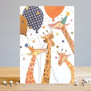 ts040-louise-tiler-giraffe-party-birthday-greeting-card