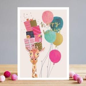 ts041-louise-tiler-birthday-giraffe-presents-balloons-greeting-card