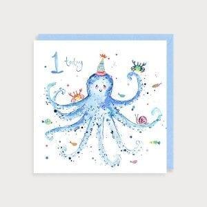 lob01-boy-age-1-birthday-octopus-louise-mulgrew-greetings-card