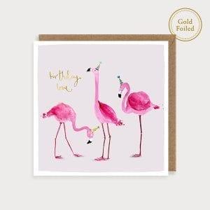 saf07-flamingoes-birthday-gold-foil-louise-mulgrew-greetings-card