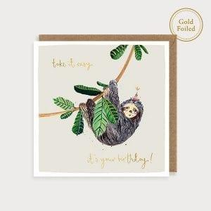 saf17-take-it-easy-on-you-birthday-sloth-louise-mulgrew-greeting-card