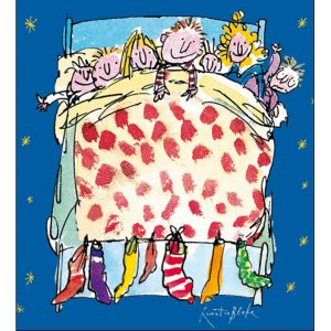 woodmansterne-quentinblake-christmas-cards-all-of-you-family-friends-bed