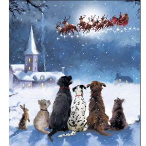 woodmansterne-christmas-cards-all-of-you-family-friends-dogs-santa