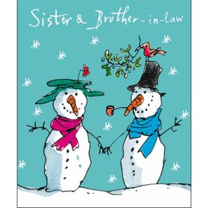 woodmansterne-quentinblake-christmas-cards-sister-brother-in-law-snowmen