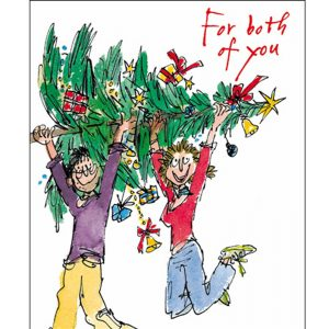 woodmansterne-quentinblake-christmas-cards-couple-tree