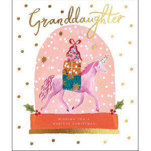 woodmansterne-christmas-cards-granddaughter-unicorn
