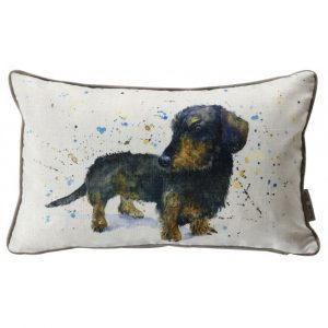 dachshund-watercolour-cushion