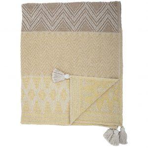 bloomingville-nome-throw-yellow-recycled-cotton