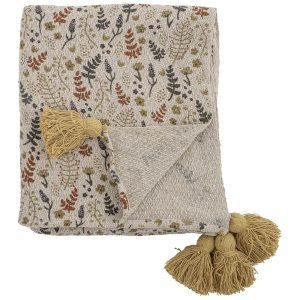bloomingville-filipa-throw-yellow-recycled-cotton