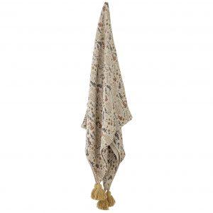 bloomingville-filipa-throw-yellow-recycled-cotton-hanging