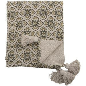 bloomingville-cila-throw-green-recycled-cotton
