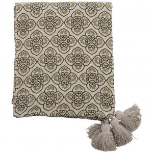 bloomingville-cila-throw-green-recycled-cotton-back