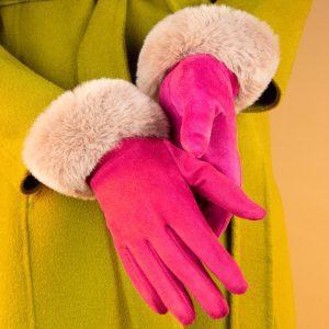 bettina-faux-suede-gloves-fuchsia-blush