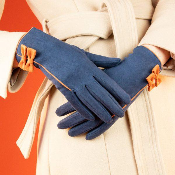 doris-faux-suede-gloves-navy