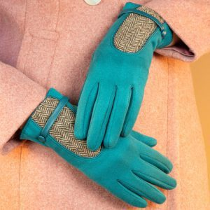 genevieve-faux-suede-gloves-teal