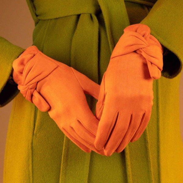 henrietta-faux-suede-gloves-tangerine